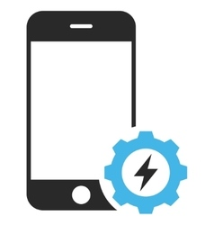 Smartphone Power Options Gear Eps Icon vector
