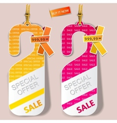 special offer labels vector image