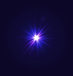 sun light with lens flare effect vector image