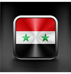 Syria flag national travel icon country symbol vector
