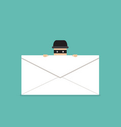 thief hide behind phishing mail vector image