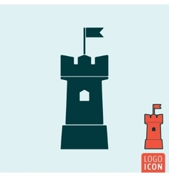 Tower icon isolated vector