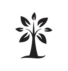 tree silhouette icon design template isolated vector image