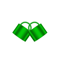 Two connected padlocks in green design vector