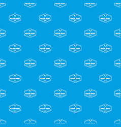 water sport pattern seamless blue vector image