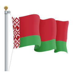 Waving belarus flag isolated on a white background vector