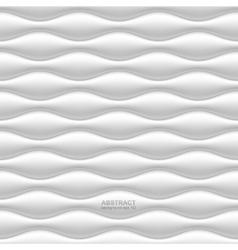 White seamless wavy background vector