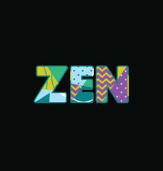 Zen concept word art vector
