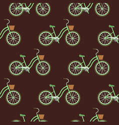 bicycles vintage style old bike seamless vector image vector image