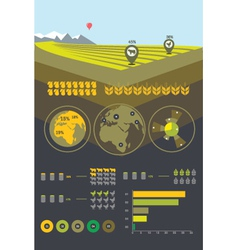 Farming and agriculture infographics vector image