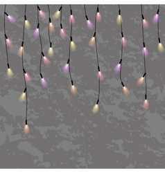 garlands christmas decorations lights effects vector image