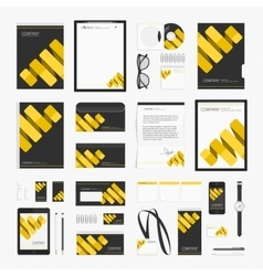 Modern corporate style template vector image