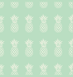 pineapple seamless pattern on mint background vector image
