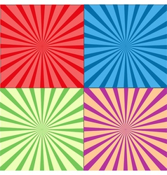 Retro Rays Background Set vector image vector image