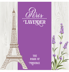 souvenir card with eiffel tower vector image vector image