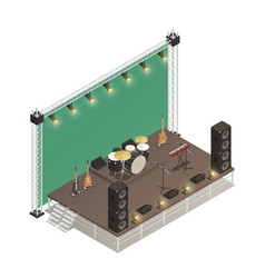 stage isometric vector image