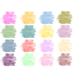 watercolor background set vector image vector image