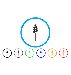 wheat ear rounded icon vector image vector image