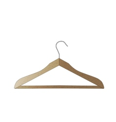 Wooden hanger isolated on white background A vector image