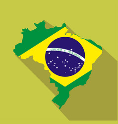 brazil cartoon flat icon landmark vector image vector image