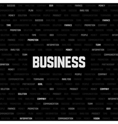 business background with business keywords vector image vector image