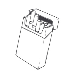 Close-up cigarettes in a packet vector image vector image
