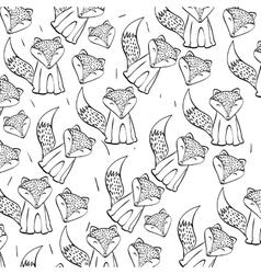 Fox icon design vector image