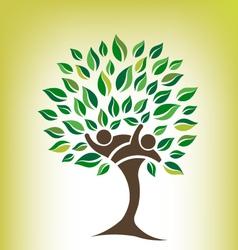 Team Tree Logo vector image