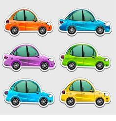 Toy cars stickers vector image
