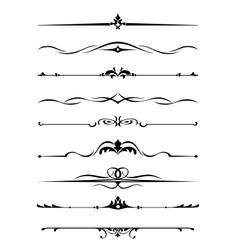 Borders and monograms vector image