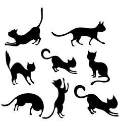 cat set vector image vector image