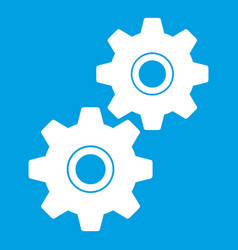 gear icon white vector image vector image