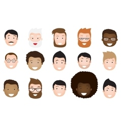 Male avatar icons set vector image vector image
