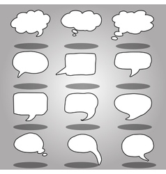 message or chat icon or bubble vector image vector image