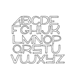 Simple hand drawn alphabet letters from A to Z vector image vector image