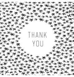 thank you hand drawn vector image vector image