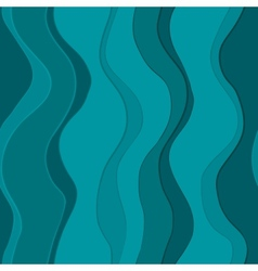 Wavy blue lines seamless vector image vector image