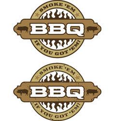 Barbecue design element vector image