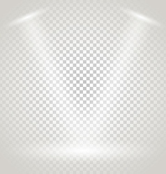 Bright stage with spotlights Transparent vector image vector image