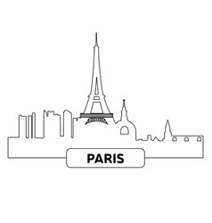 cityscape of paris vector image vector image