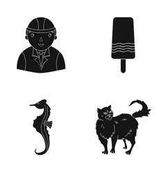 Fur care building and other web icon in black vector