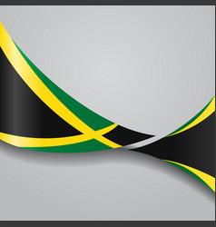 jamaican wavy flag vector image vector image