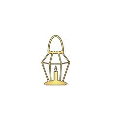 Lantern computer symbol vector image vector image