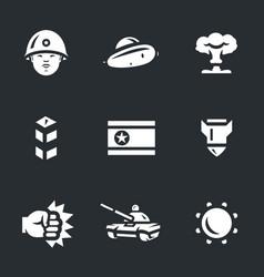set of north korea icons vector image vector image