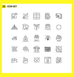 25 creative icons modern signs and symbols vector