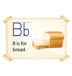 A letter b for bread vector