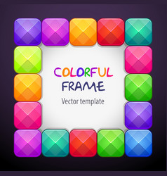 Abstract creative square frame consisting vector
