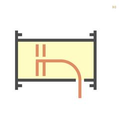 Air duct pipe and cleaning work icon 64x64 vector