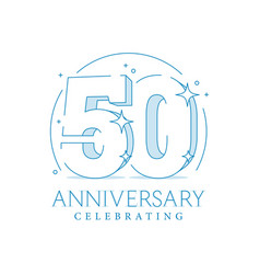 Anniversary 50 3d number fifty with sparkles vector