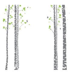 Beautiful birch tree branch vector